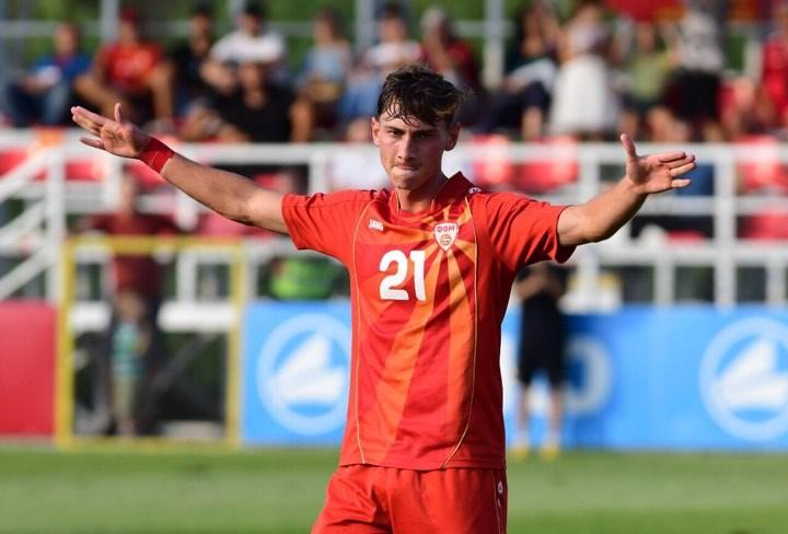 Mitrovski celebrates one of his goals