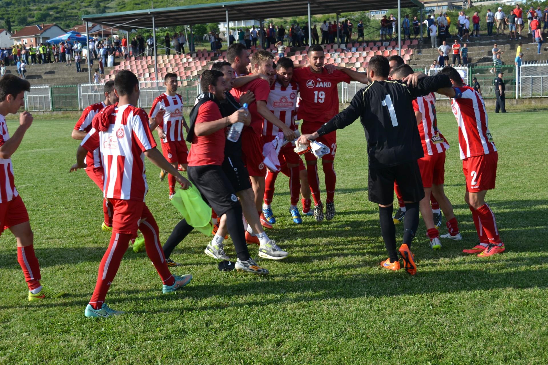 Turnovo celebrates after the game; photo: FFM