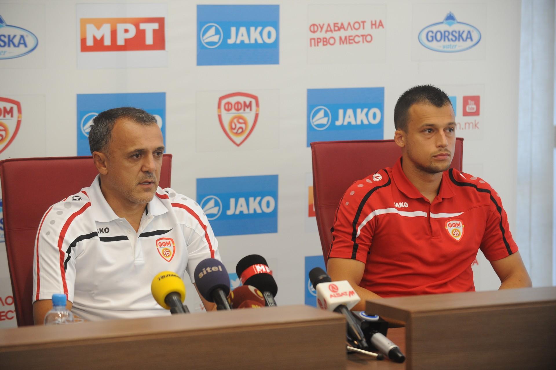 Drulovic and Ivanovski at Thursday's presser; photo: FFM